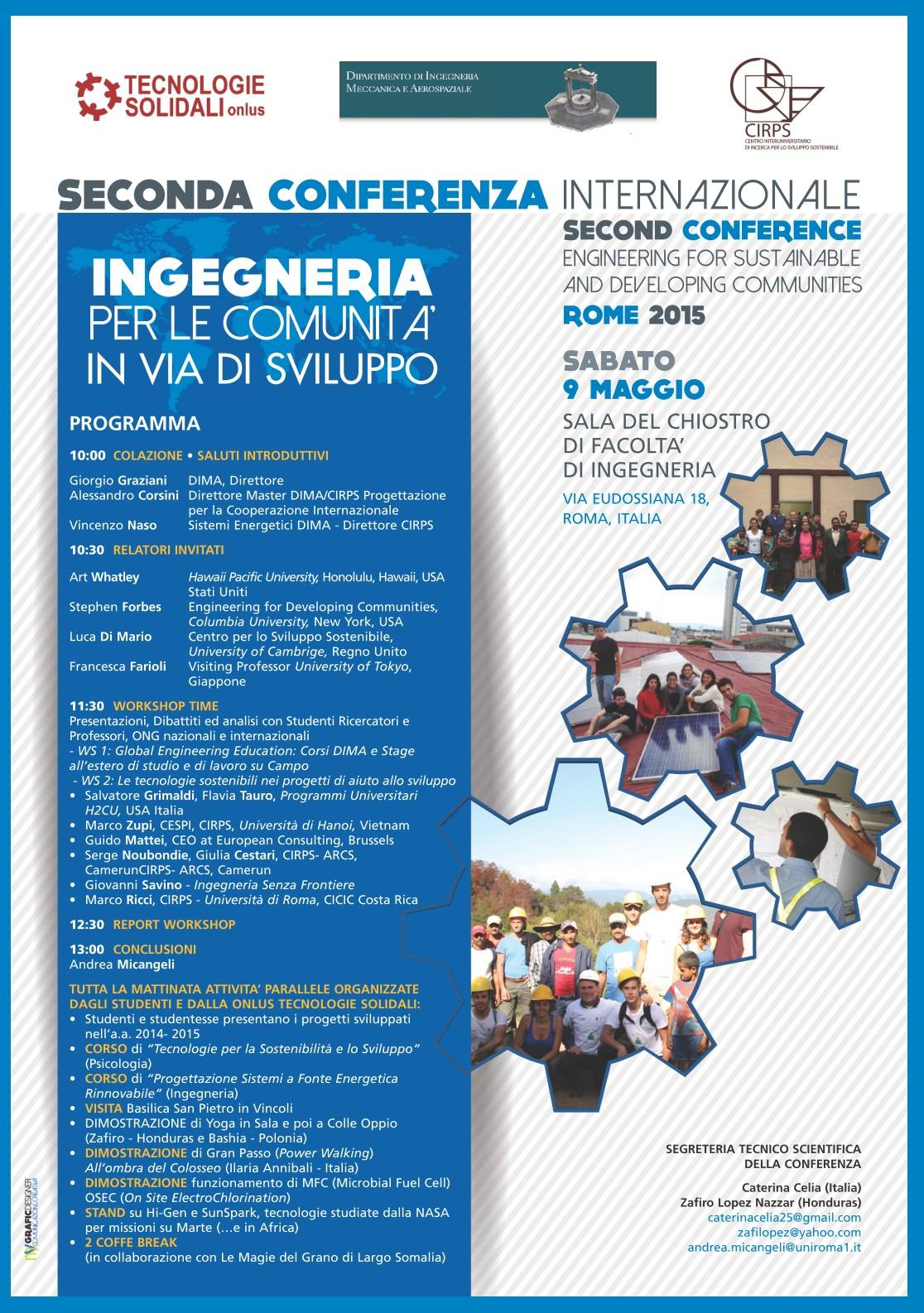 "II Conference: "" Engineering for developing communities""."